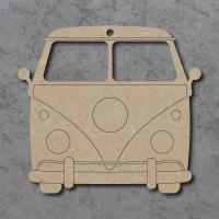 Camper Van (Front Profile) Detailed Craft Shapes