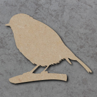 Robin On Branch Blank Craft Shapes