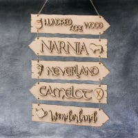 Fairytale Directions Hanging Sign