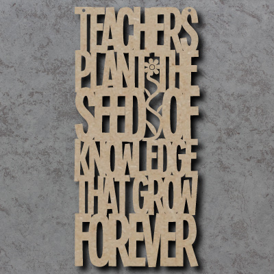 Teachers Plant The Seed Sign