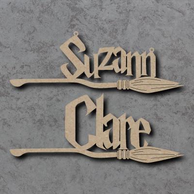 Broom Stick - Personalised Names