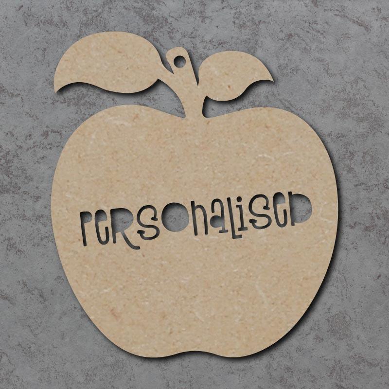 Personalised Cutout Words Apple
