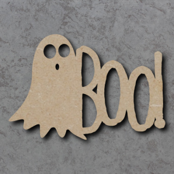 Boo with Ghost Sign