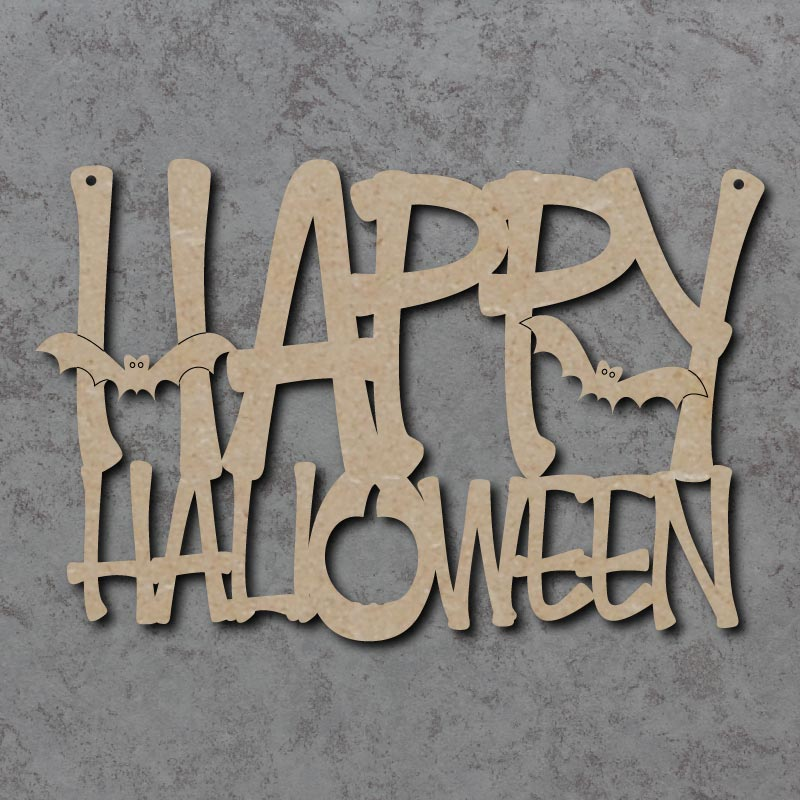Happy Halloween Craft Sign