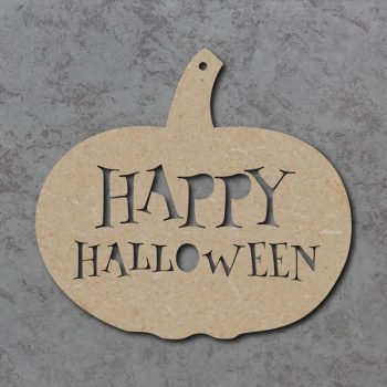 Happy Halloween Pumpkin Sign