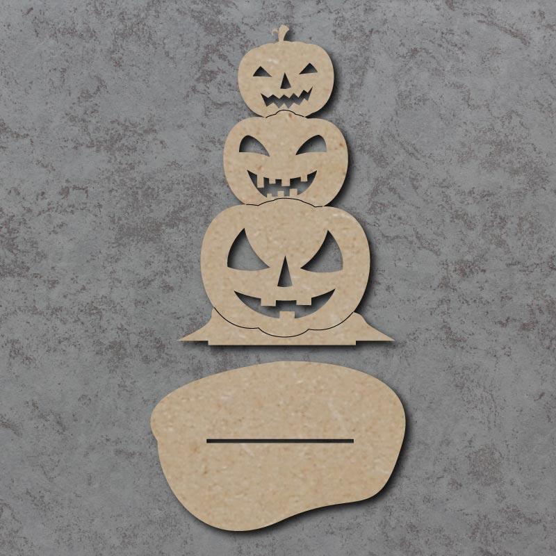 Pumpkin Stack Freestanding Sign