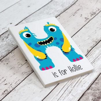 Monster Initials Personalised Notebook - White