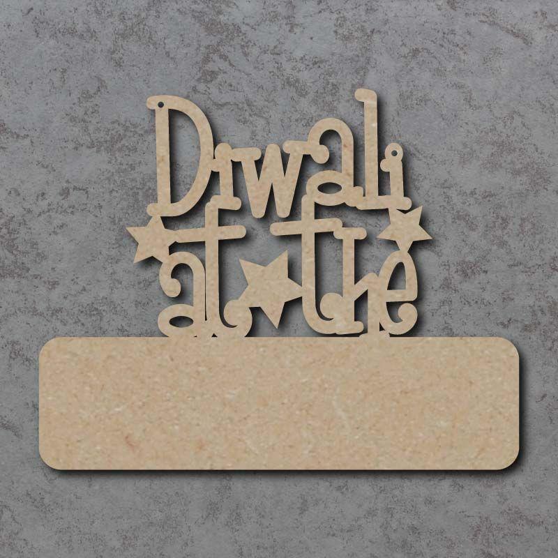 Diwali At The (Blank) Craft Signs