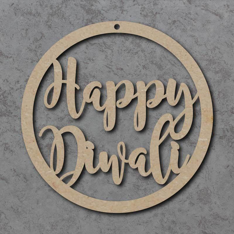 Happy Diwali Circle Signs