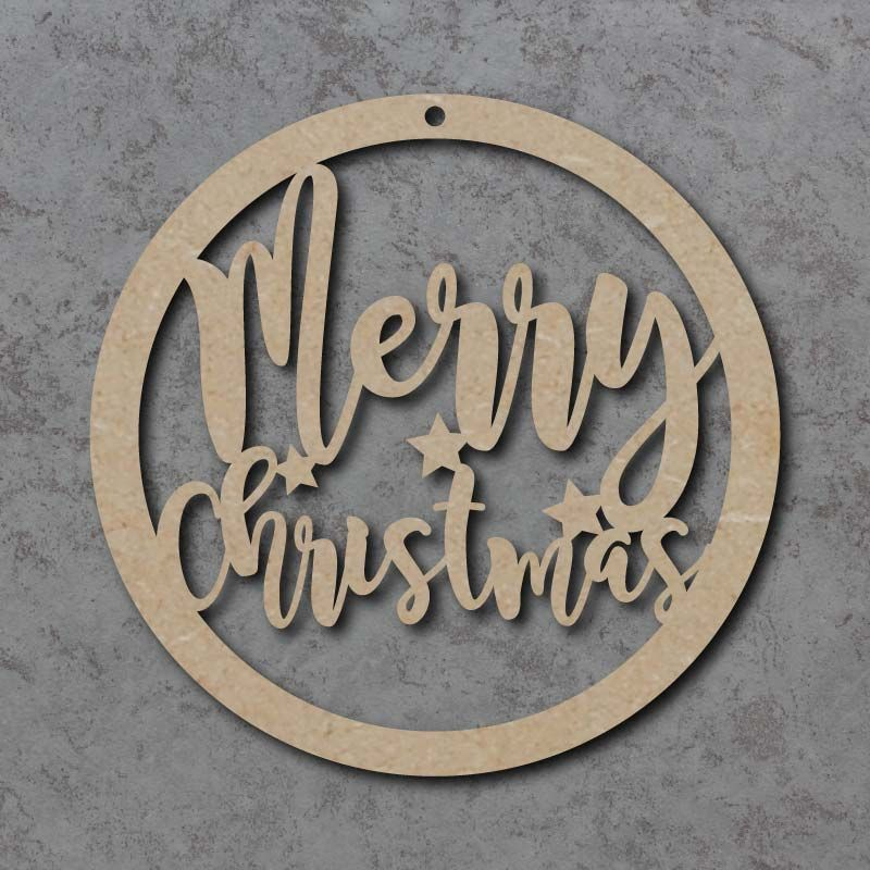 Merry Christmas Circle Signs