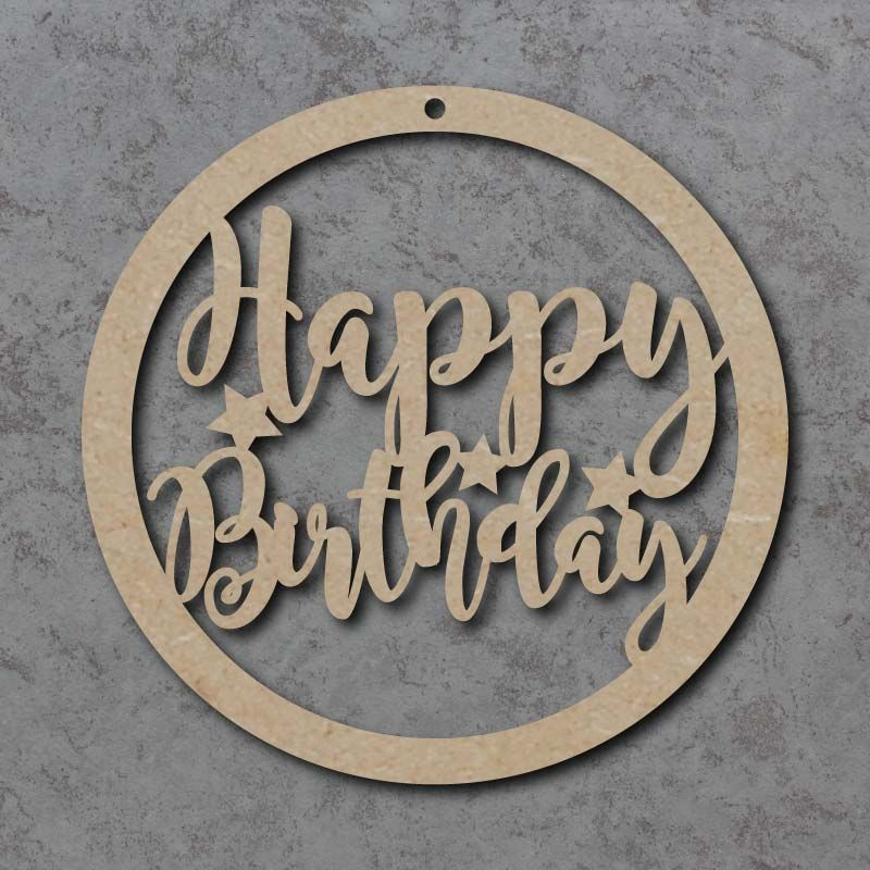 Happy Birthday Circle Signs