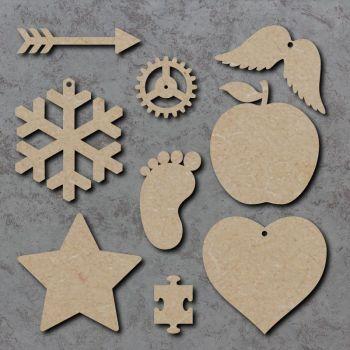 Bulk Buy Blank Craft Shapes x 100