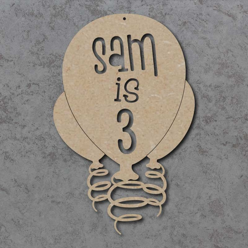 Personalised Birthday Balloon Signs