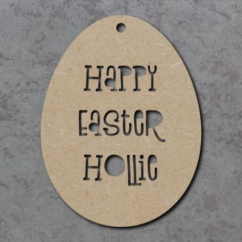 Happy Easter Personalised Cutout Egg