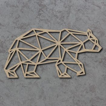 Geometric Polar Bear Craft Shapes