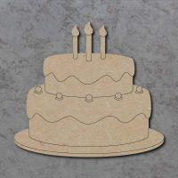 Birthday Cake Detailed Craft Shapes