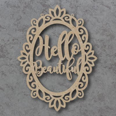 Hello Beautiful Craft Sign