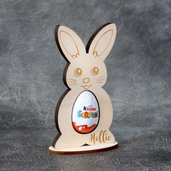 Personalised Plywood Kinder Bunny Egg Holder