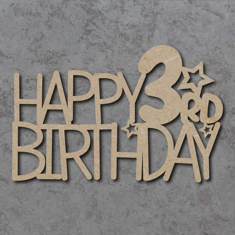 Happy Birthday With Age Craft Sign