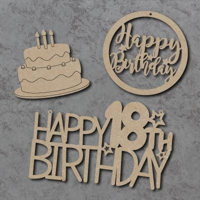 Birthday Signs & Shapes