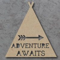 Adventure Awaits cutout Sign