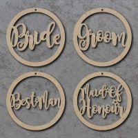 Wedding Circle Name Signs