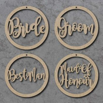 Wedding Circle Name Signs