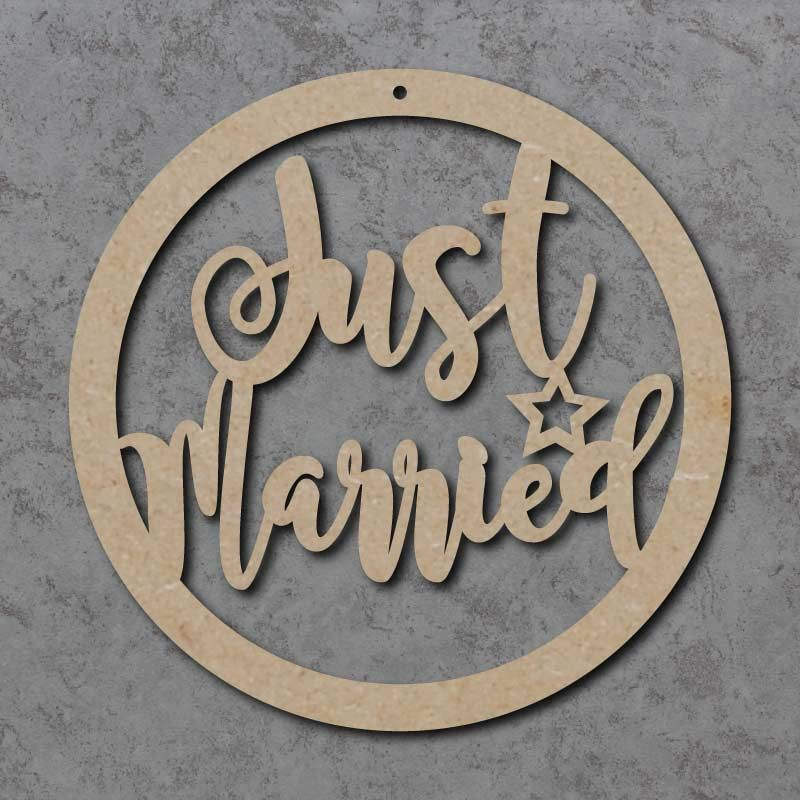Just Married Wedding Circle Sign
