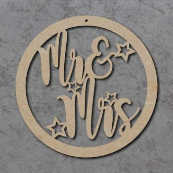 Mr & Mrs Wedding Circle Sign