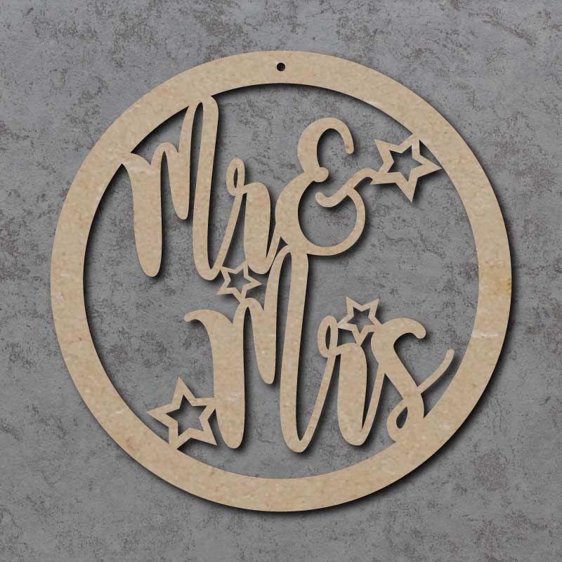 Mr & Mrs Wedding Circle Sign