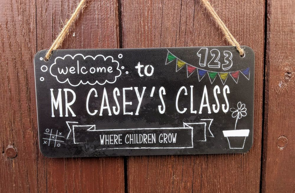 Welcome to Teachers class personalised sign