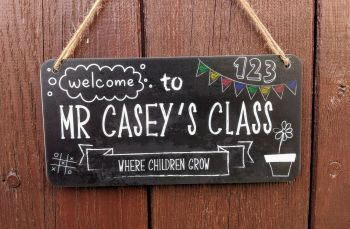 Welcome to Teachers class personalised sign (PRINTED)