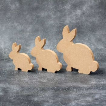 Bunny Standing - 18mm Thick Craft Shapes