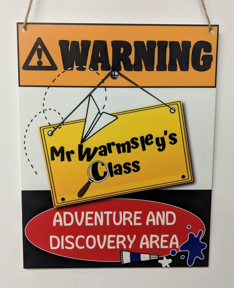 Personalised Teachers class sign