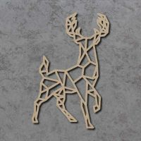 Geometric Stag Craft Shapes