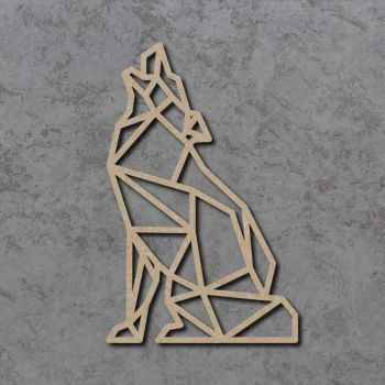 Geometric Wolf Craft Shapes