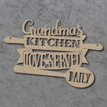Served With Love Kitchen Craft Sign