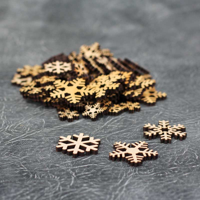 Small Snowflake Embellishments Craft Pack
