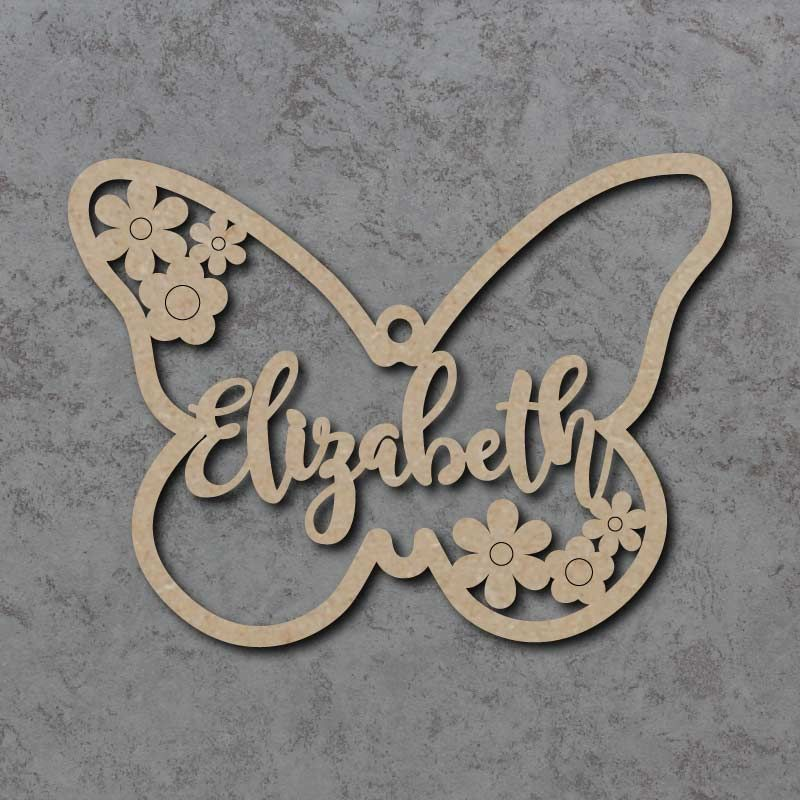 Personalised Butterfly Flower Names