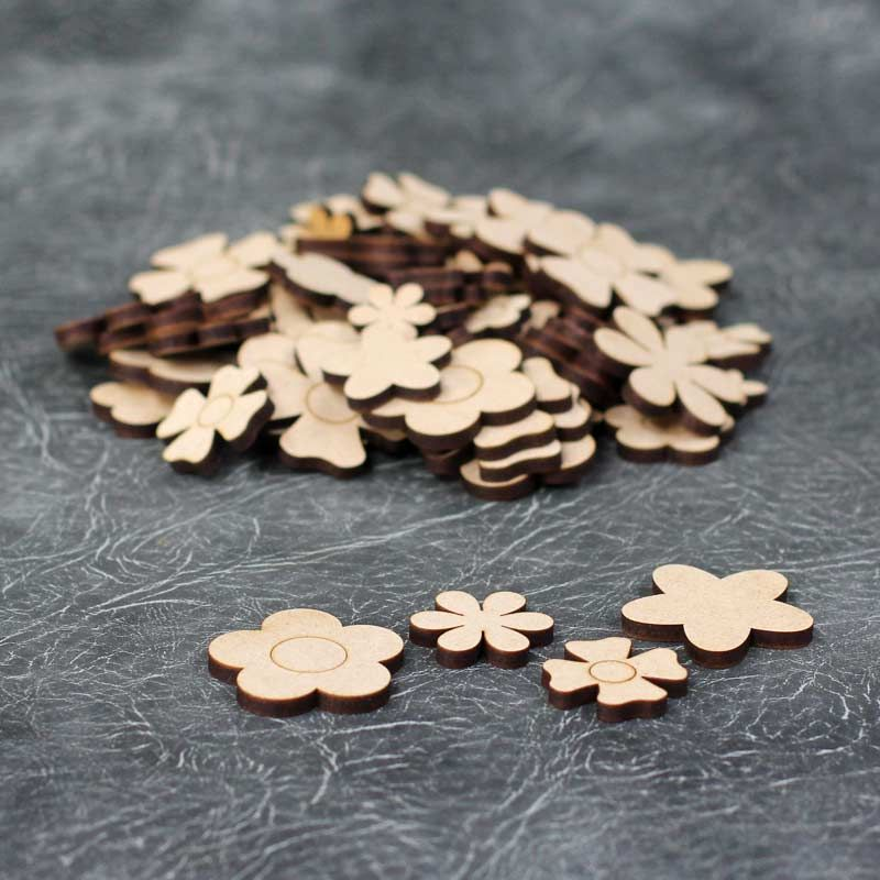 Small Flower Embellishments Craft Pack