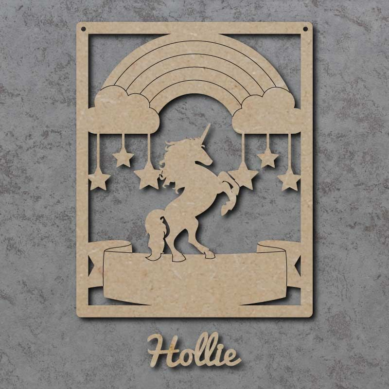 Personalised Unicorn Name Sign
