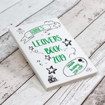 Personalised School Leavers Book - Green
