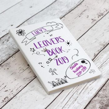 Personalised School Leavers Book - Purple