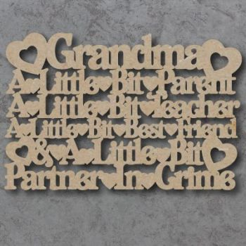 Grandma, a little bit parent etc sign