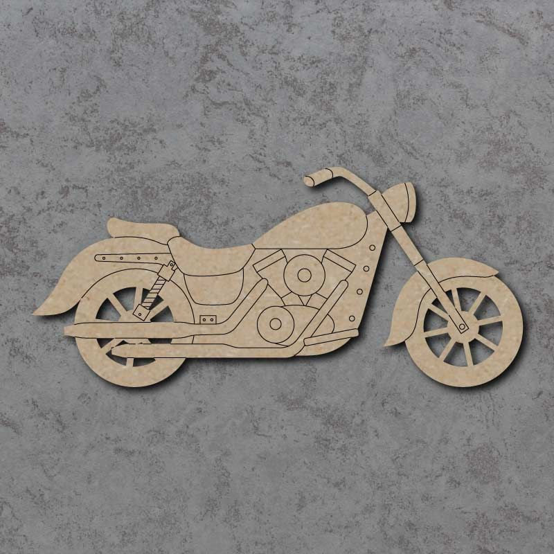 Motorbike 02 Craft Shapes
