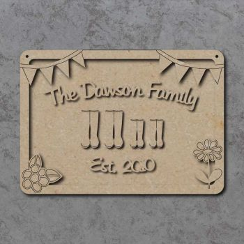 Personalised Family Welly Boot Plaque