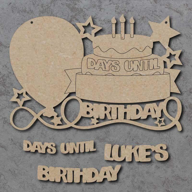 Days Until Birthday Sign