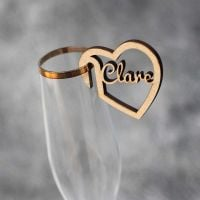 Personalised Wedding & Party Glass Place Names
