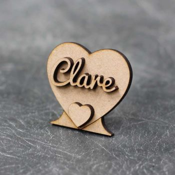 Personalised Wedding & Party Table Heart Names