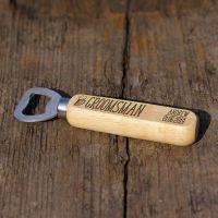 Groomsman Personalised Wooden Bottle Opener